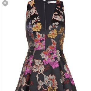 Alice and Olivia Floral Brocade Cocktail Dress
